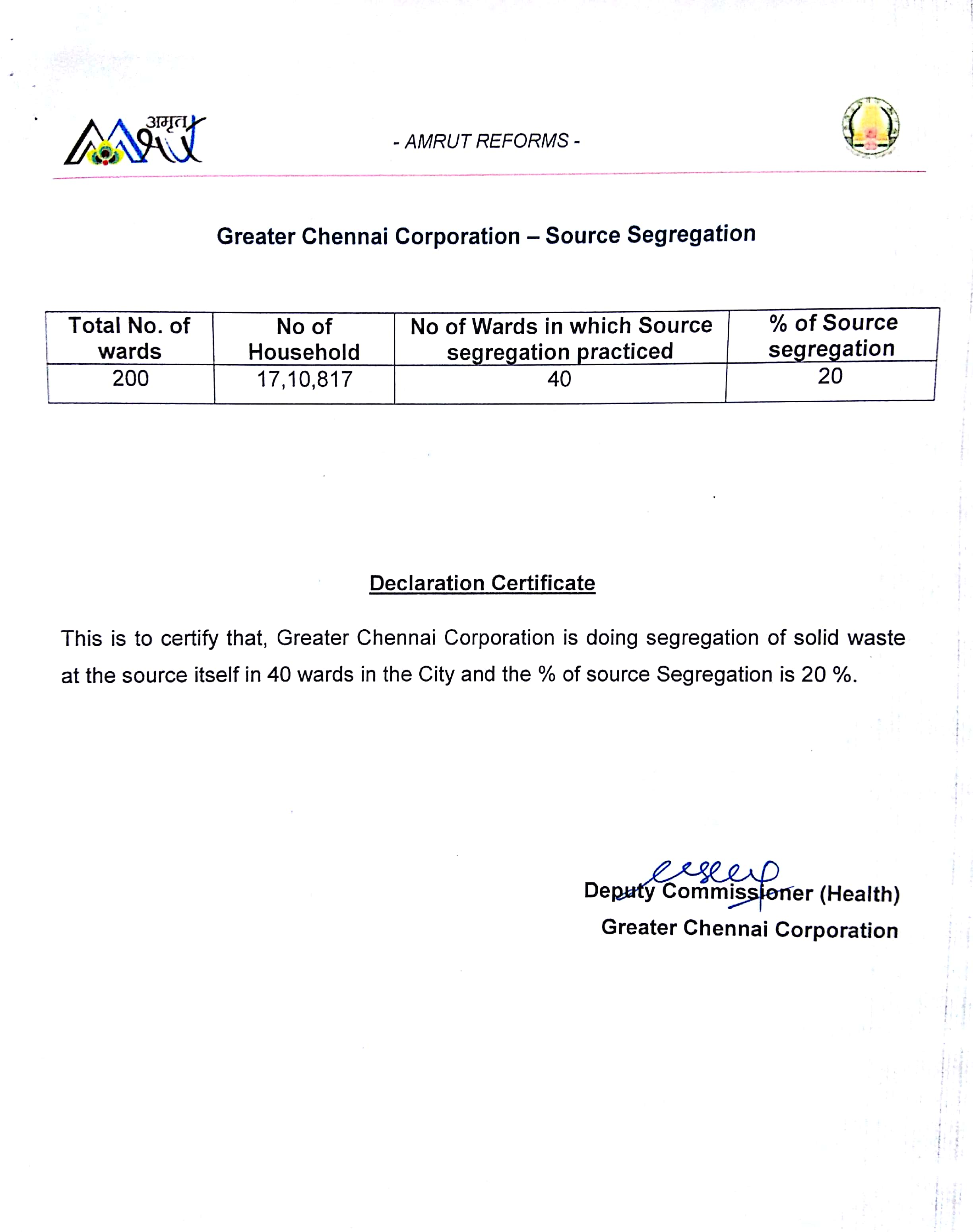Lujo Tirunelveli Corporación Municipal Certificado De Nacimiento ...